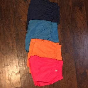 Lot of neon Soffe shorts